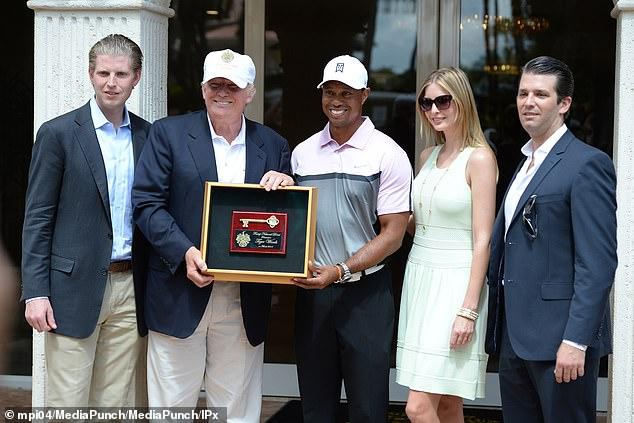 Woods gewann den Gene Serazen Cup im Jahr 2013 beim Cadillac Championship Golfturnier im Trump National Dural in Florida. Trump ist ein begeisterter Golfspieler und verbringt seine Freizeit oft auf dem Golfplatz