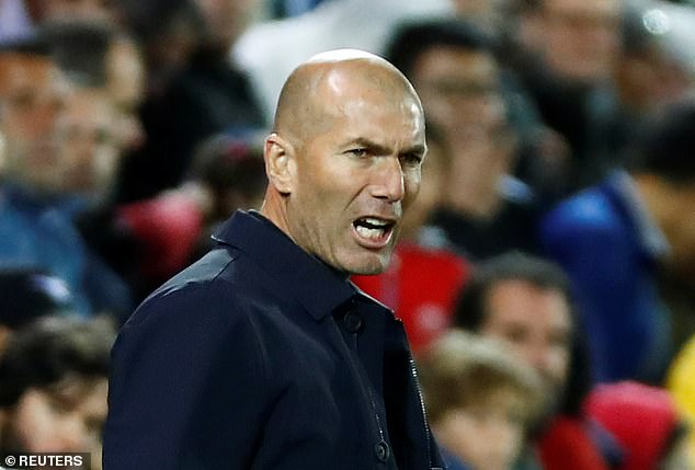 Zinedine Zidane looks perplexed as his players search for a second goal against Leganes