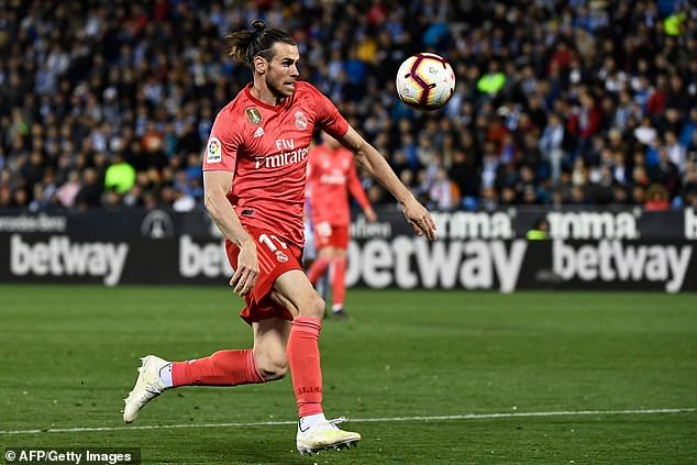 Welsh winger Gareth Bale came on as a substitute with nine minutes remaining