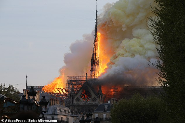 An architectural feat that led Paris's famous Notre-Dame Cathedral to be known as 'The Forest' is now likely a major contributor in its destruction, as a fire rips through its all-wood frame