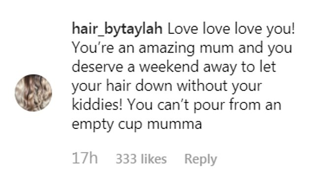 'You're all just jealous!' While Tammy continues to be mercilessly trolled for her festival antics as a mother, fans have defended her right to have fun as a parent