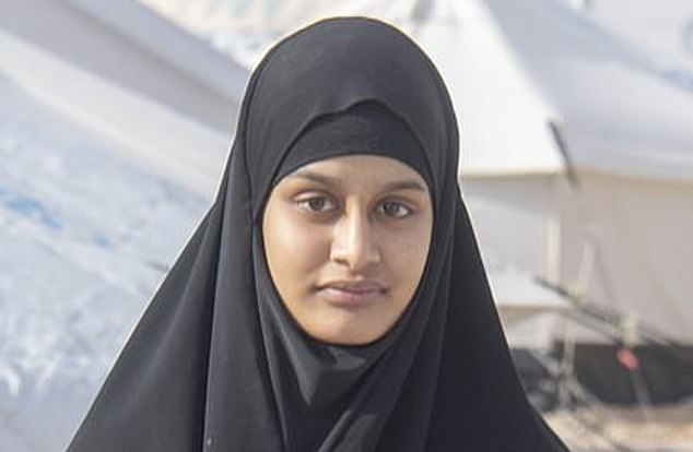 Shamima Begumis said to be destitute and living in a refugee camp in Syria, having lost three of her children she had with her Dutch jihadi husband. Shewill get legal aid to help fund her fight to return to Britain [File photo]