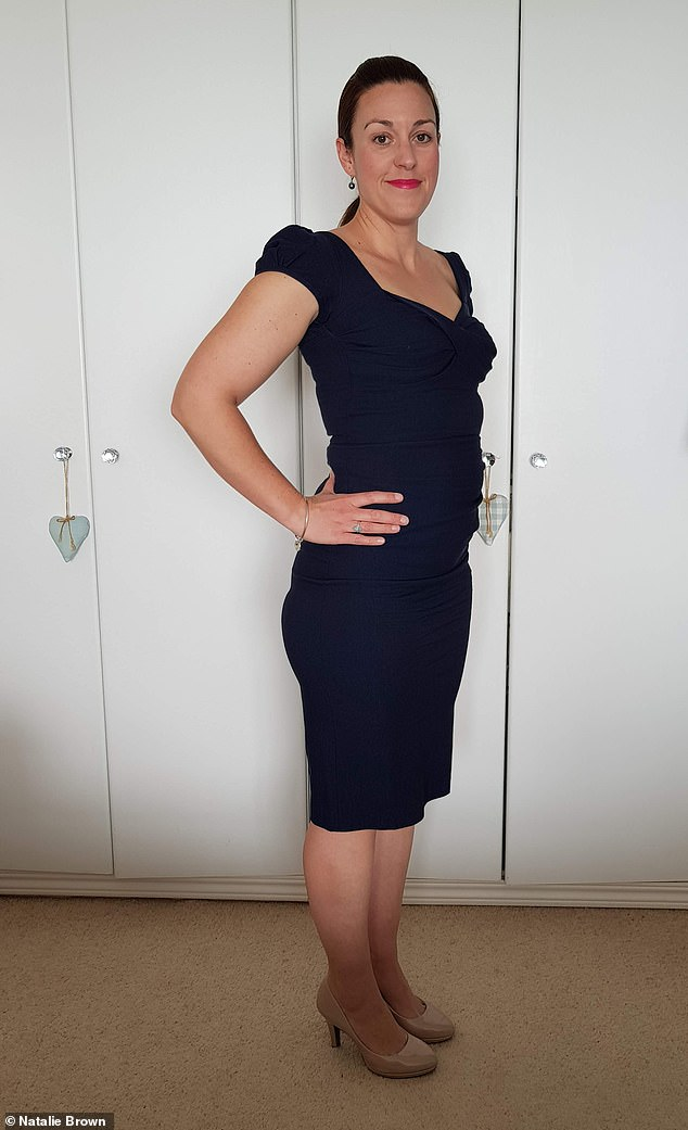 Natalie Brown, 38, (pictured after) gave her verdict onthe Dietbon weightloss plan which has been praised by dieters inFrance, Belgium, Luxembourg and Spain