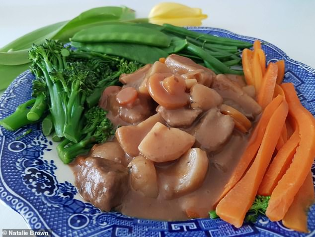 Dietbon nutritionist Charlotte Debeugny, told Natalie thatDietbon teaches portion control, thisboeuf bourguignon (pictured) was one of Natalie's dinner choices