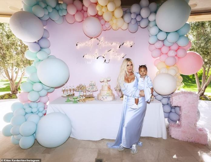 """Khloé wrote on Monday: """"True is about ONE! After my baby shower, I did not think we could beat a dream like a party, but with the help of @wildchildparty and @mindyweiss we have ... Love is in the details. """""""