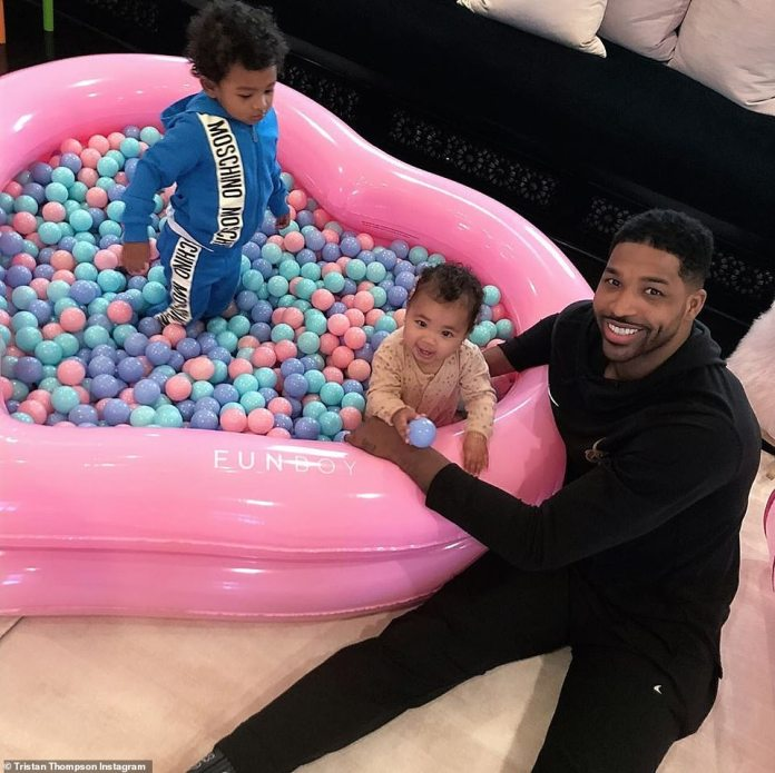 The father of two: The 6-year-old athlete is also the baby daddy of two-year-old son Prince Oliver (L, in 2019) with his partner in front of the Calabasas celebrity, the fashion nova speaker model Jordan Craig