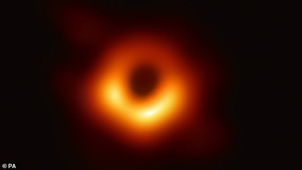 Scientists could soon create the world's first recording of a moving black hole behind an innovative image of the phenomenon launched last week (pictured). Experts say they will produce a video of hot gases spinning chaotically around the black hole