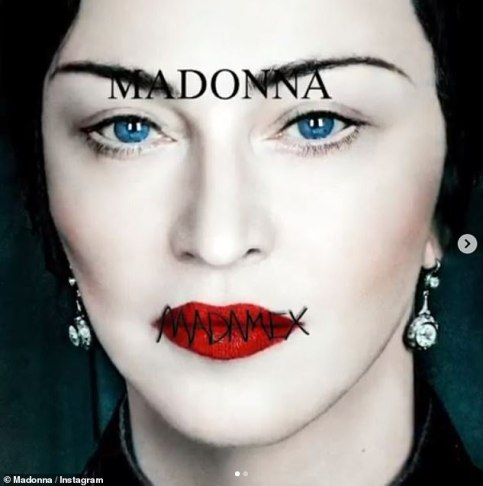 Wow! The striking album cover features a close-up of Madonna-as-Madame X, with the album title etched across her pillar-box red lips to give the illusion of her mouth being sewn shut