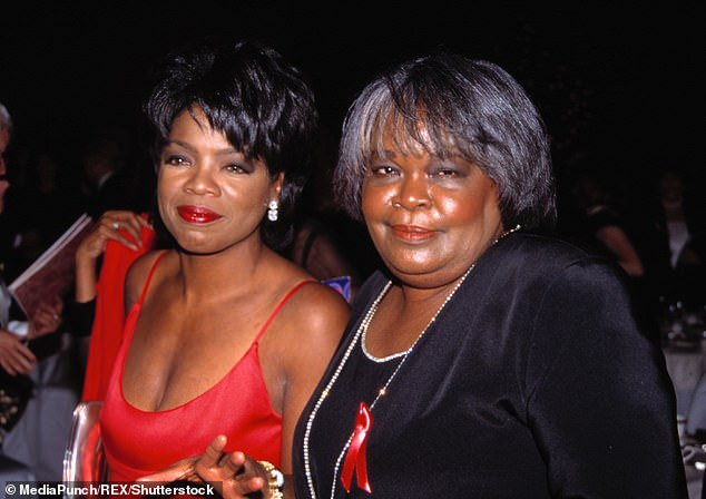 Determined: Oprah wrote about returning to be by her mother's side for a second shot at expressing herself (pictured in 1994)