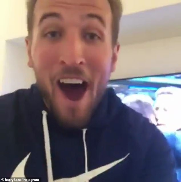 Harry Kane posted a video celebrating Tottenham's win over Manchester City