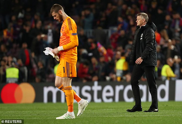 David de Gea (left) and Solskjaer struggled through the pitch after Tuesday's loss.