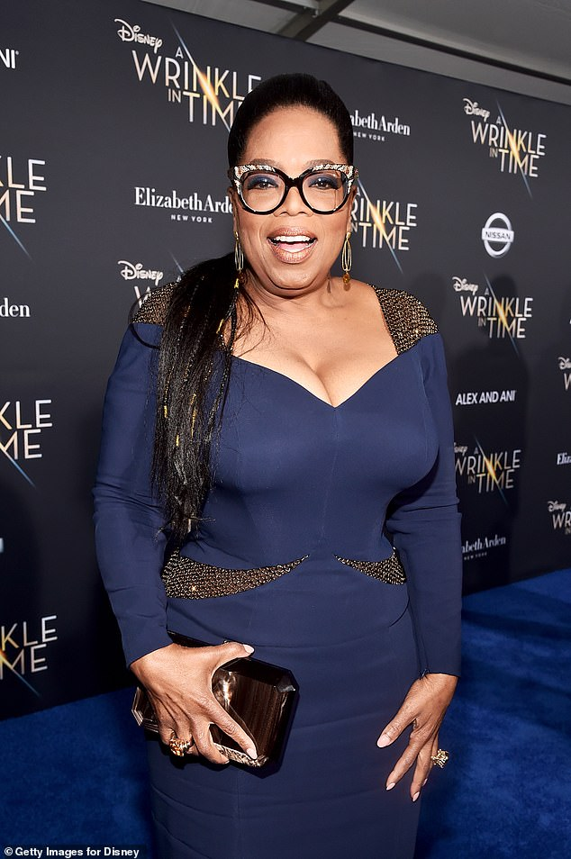 Touching: Oprah later made amends with Vernita and, in one touching 1990 episode of the Oprah Winfrey Show, the talk show host gave her mother a makeover (pictured February 2018)
