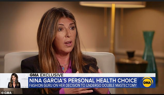 Nina Garcia shared her story on Good Morning America because she felt compelled, as a woman in the fashion world, to show 'we are not perfect'
