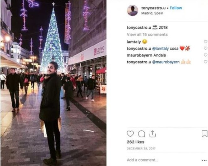 Just days before welcoming 2018, Tony Castro, grandson of former Cuban leader Fidel Castro, jetted off to Madrid to celebrate the end of the Christmas holiday season