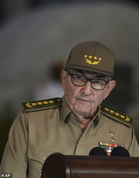 Raúl Castro's (pictured) family has benefited from the ruling Communist Party's stronghold in a country were ordinary people struggle to find food and live in poverty