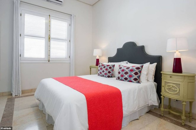 Each of the four bedroom in the Castro clan's mansion is fully equipped with an air conditioner. There is also a laundry room on site