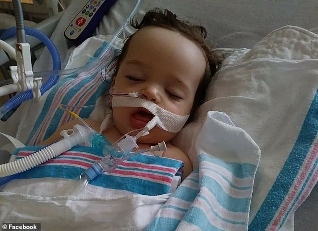 He was rushed to the ER where he was intubated and taken into emergency surgery. Cotter was on life support at Hasbro Children's Hospital in Providence (pictured) for three days
