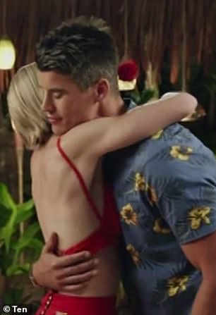Betrayal: Bill two-timed the women, 'promising' Florence his rose, before giving it to Alex [pictured], on Thursday night's episode