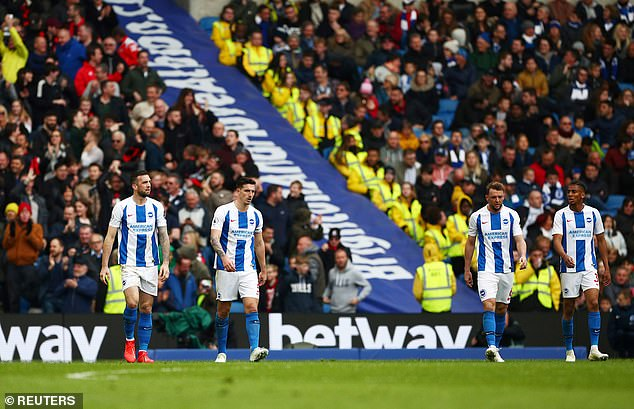 It seems that the problems have just arrived in Brighton at the wrong moment of the season