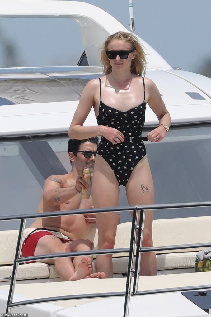 Loving life: On Thursday, Joe Jonas, 29, and Sophie Turner, 23, continued to enjoy spending some time away from the spotlight as they soaked up the sun aboard a yacht in Mexico