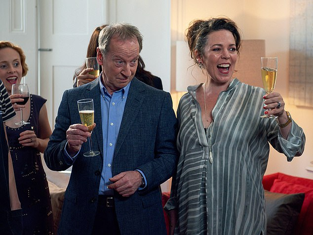 Fleabag's parents on screen are played by Olivia Colman (right) and Bill Patterson (left).