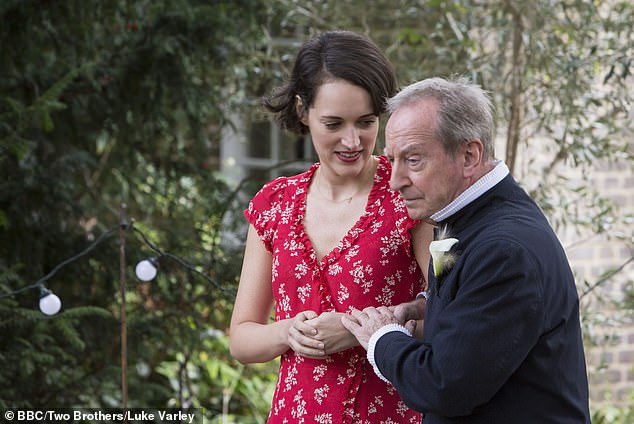Fleabag and her father on the day of his wedding in Series 2 of the popular BBC show