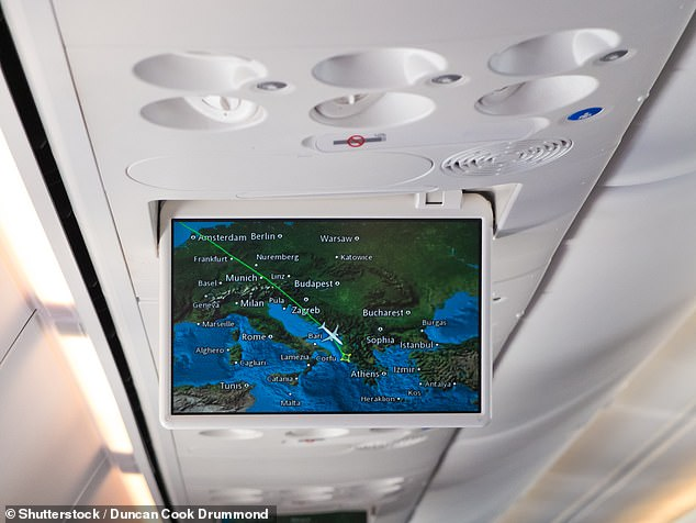 The technology has barely changed since and most simply show a graphic of the plane moving above a map (stock image)