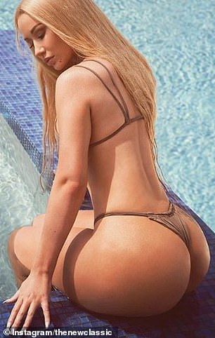 Flaunting it: In recent years, the Mo Bounce singer has had no qualms in showing off her plump derrière