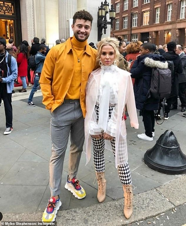 Wedding bells: Her post comes after her beau Myles Stephenson, 27, confirmed that he has already planned how he's going to propose to her and joked that it would be with a 'haribo ring'