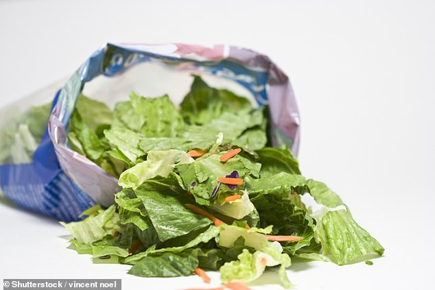 Pre-cut salads can last 24 hours after the use-by date if the bag is unopened. Otherwise, stick to the date