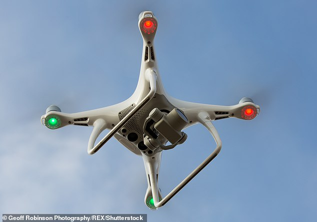 More than 20 councils have been granted approval by the CAA to use drones for commercial purposes. A stock picture of a drone is pictured above for illustrative purposes [File photo]