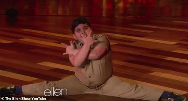 Impressive:During his time on IGT, which saw the contestant reach the last stages of the series, he entertained audiences at The Ellen Show as he delivered an energetic routine