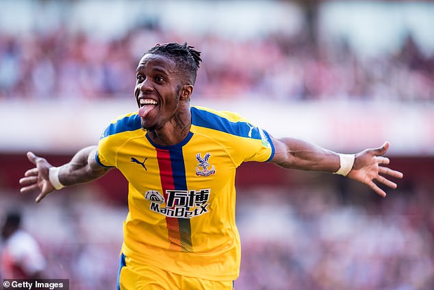 Crystal Palace are open to letting Wilfried Zaha leave this summer and value him at £80m