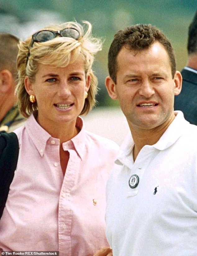 Tim has captured some of the royal family's most iconic moments for the past 19 years, since he joined Shutterstock in 1990 (pictured: Princess Diana with her butler Paul Burrell)