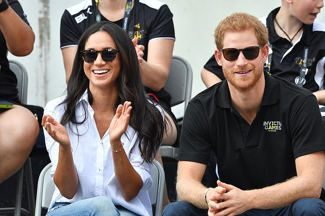 According to Tim, one of his many favourite moments to shoot was the Duke and Duchess of Sussex's trip to the Invictus Games (pictured in 2017 in Toronto)