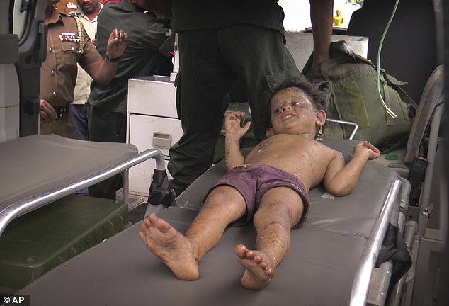 A Sri Lankan girl is rushed to hospital after she was found at the site of an explosion and a gunbattle in Kalmunai