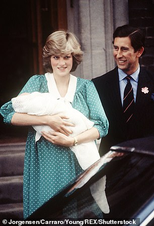 Princess Diana and Prince Charles after the birth of Prince William