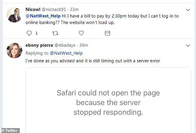 Pictured: Twitter users complain of not being able to access their accounts this morning