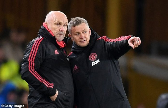 Mike Phelan (left) has held talks over the technical director position at Manchester United