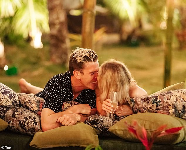Lashing out:Keira also claimed that Alisha had even contacted her over social media, telling her to stop publicly commenting on her relationship with Jules as it was 'taking away from her experience' on the show. Pictured: Jules and Alisha on Bachelor In Paradise season 2