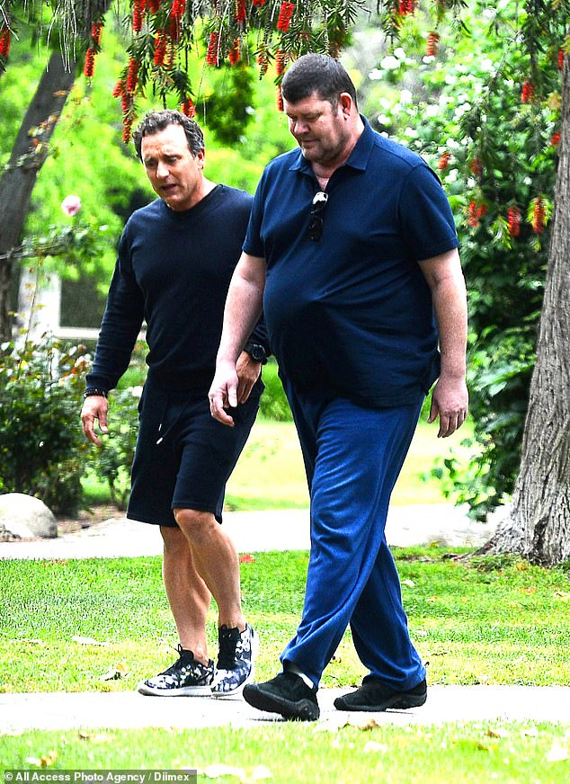 James Packer walks through UCLA campus with 'a medical ...
