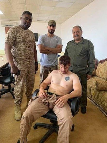 Photos publiées en ligne par l'armée nationale libyenne