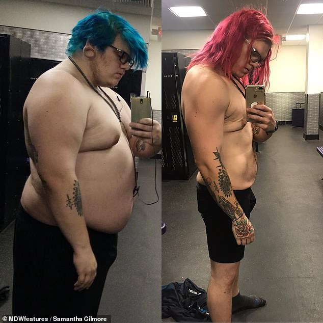 In just two years, Rick went from trying to feel comfortable as the 'fat guy' to exercising almost daily (left: before l; right: after)