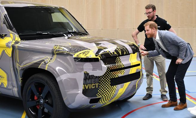 New dad Prince Harry gets first look at new Land Rover Defender | This is  Money