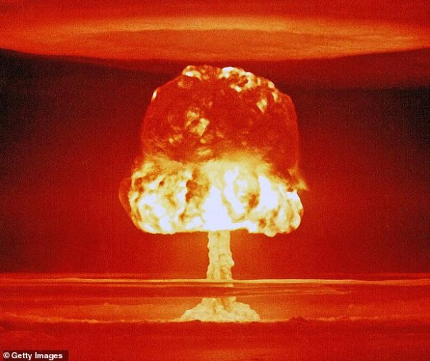 The radioactive carbon created as a by-product of previous nuclear bomb tests (in the image, archive image) has reached the deepest parts of the ocean, and is ending within marine creatures