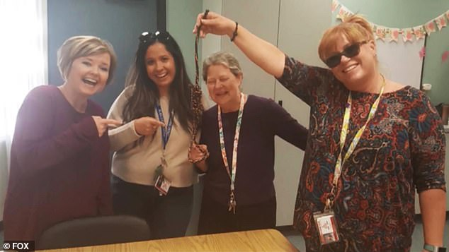 Was it about Gabriel? A theory has been floated that these four California teachers posed with a noose to celebrate an anniversary of the sentencing of a couple convicted of killing one of their students, Gabriel Fernandez