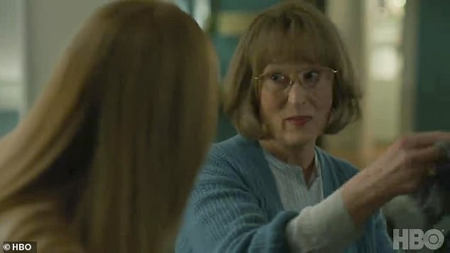 Interrogation: In the trailer's most powerful scene, Celeste's mother-in-law Mary Louise Wright (played by three-time Academy Award winner Streep) grilled Celeste about what really befell Perry that night