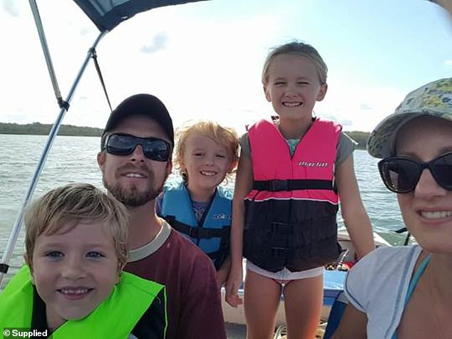 'Somewhere in the midst of looking after three children while working I forgot to think about myself. My kids and husband came first,' Dr Probst said (Pictured with her family)