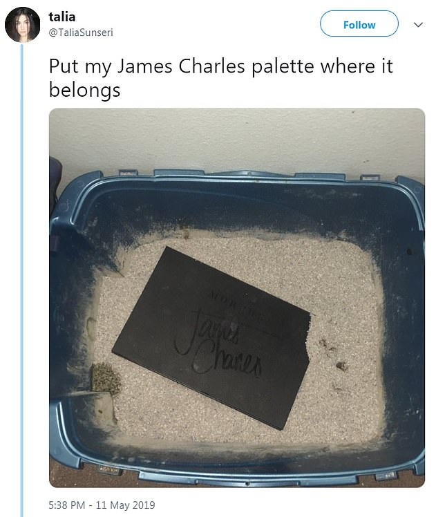 Dumping it out: Another tossed her palette her cat's littler box