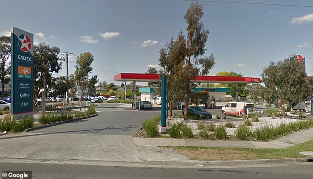 The Caltex service station on Blackburn Road where a woman was savagely bashed. Didier Lam Kee Shau then drove his car into it, injuring the attendant